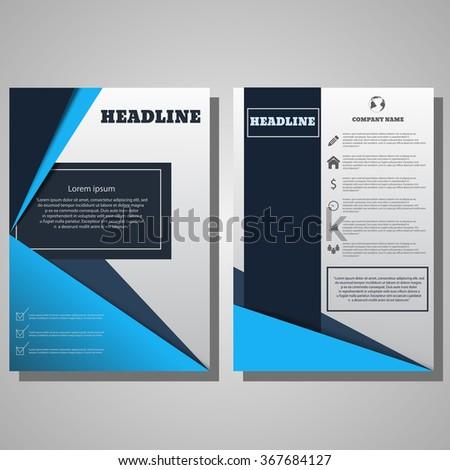 Brochure Flyer design. Vector design for Cover Report Brochure Flyer Poster in A4 size eps 10 - stock vector