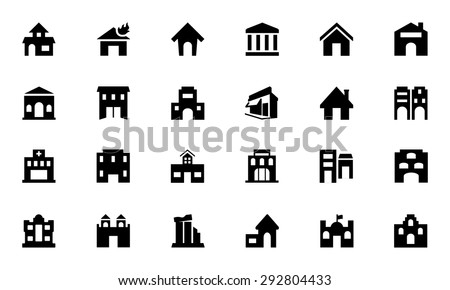 Building Vector Icons 2  - stock vector