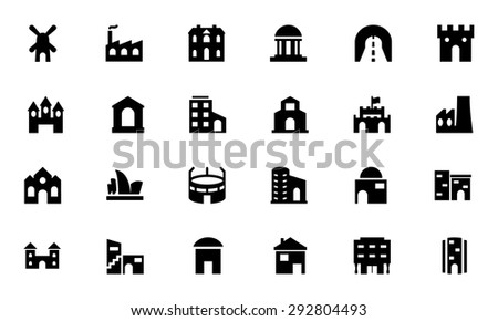 Building Vector Icons 4  - stock vector