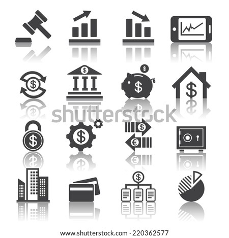 business and finance icon - stock vector