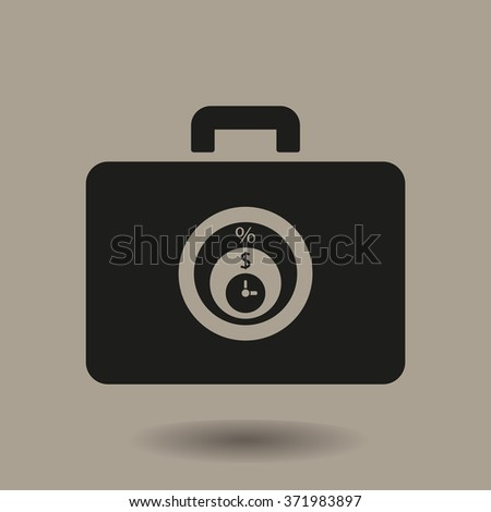 Business and finance icon percentage icon, vector illustration.Flat design style. - stock vector