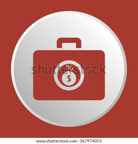 Business and finance icon percentage icon, vector illustration. Home icon JPG.Flat design style. - stock vector