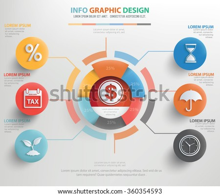 Business concept info graphic design,clean vector - stock vector