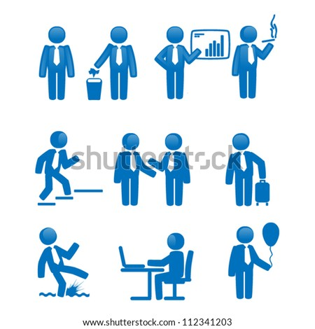 business icon set  on white background - stock vector