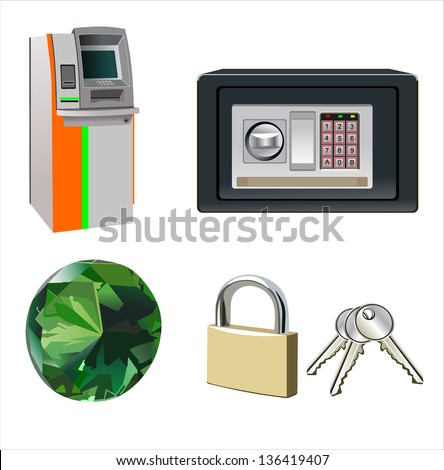 business icons, human resource, finance, logistic icon set - stock vector