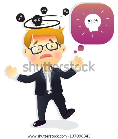 business man isolated on white background- vector illustration. - stock vector