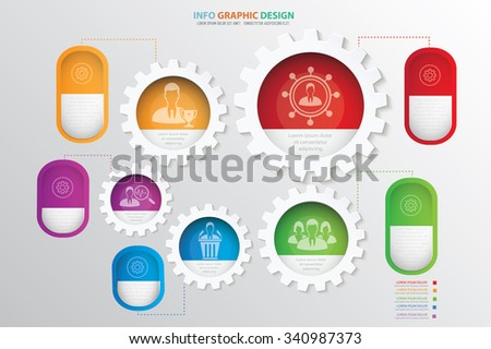 Businessman,team info graphic design.clean vector - stock vector