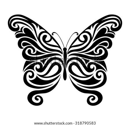 butterfly, vector illustration - stock vector