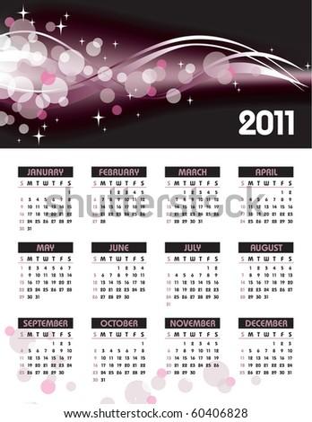 2011 Calendar. Abstract Illustration. eps10 format. - stock vector