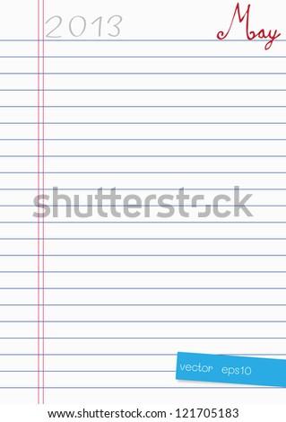 2013 Calendar Paper Design - stock vector