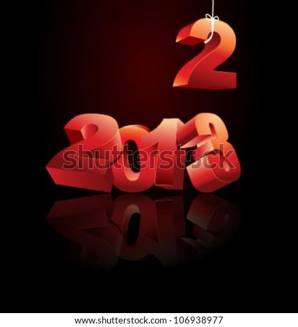2013 Calendar vector illustration - stock vector