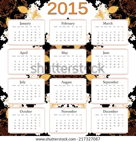 450 x 470 jpeg 68kB, 2015 calendar with abstract background. Free font ...