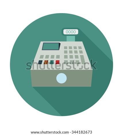 Cash Register Colored Vector Illustration  - stock vector
