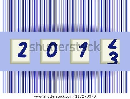 2012-2013 change, blue vector illustration - stock vector