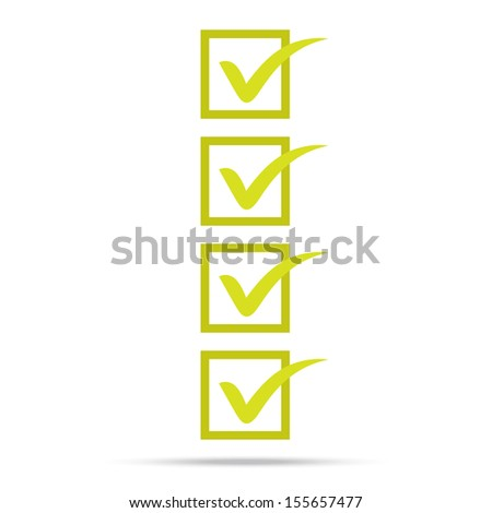 check list symbol right mark isolated vector - stock vector