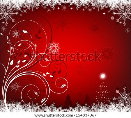 Christmas red background - stock vector
