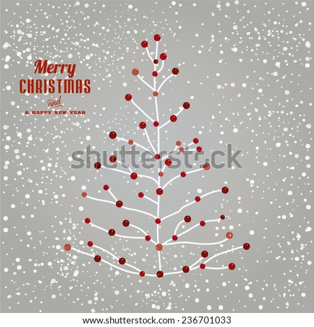 Christmas tree illustration  - stock vector