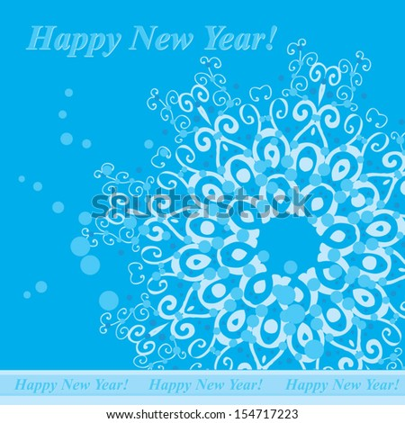 circle  snow pattern on light blue background - stock vector