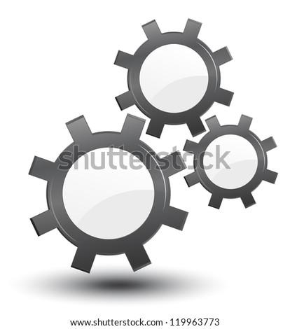 cogwheels, vector, industrial background - stock vector