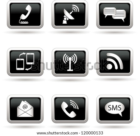 Communication icons. Vector illustration. - stock vector