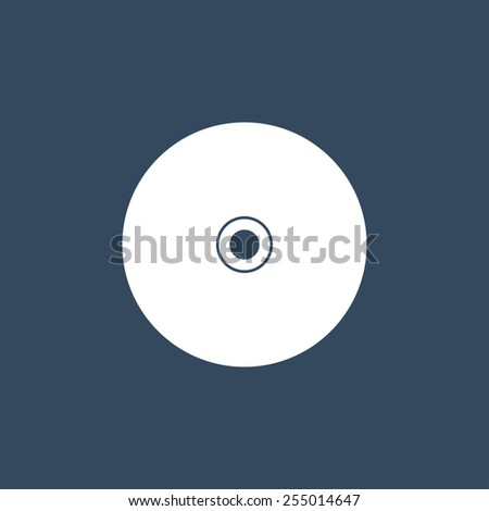 Compact disc flat icon. Modern flat icon for Web and Mobile Application. EPS 10.  - stock vector