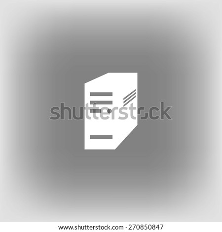 computer server icon - stock vector