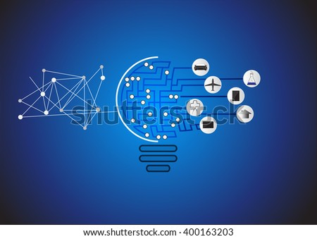 Concept innovative ideas an invention, Creative light bulb idea step up options, Vector illustration modern design template. - stock vector