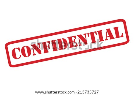 'CONFIDENTIAL' Red Stamp vector over a white background. - stock vector