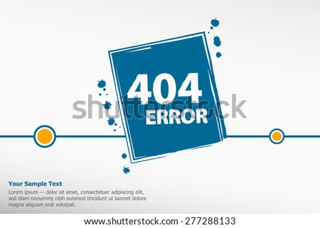 404 connection error. Abstract background with wire plug and socket.  - stock vector