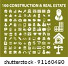 100 construction & real estate icons set, vector illustration - stock vector