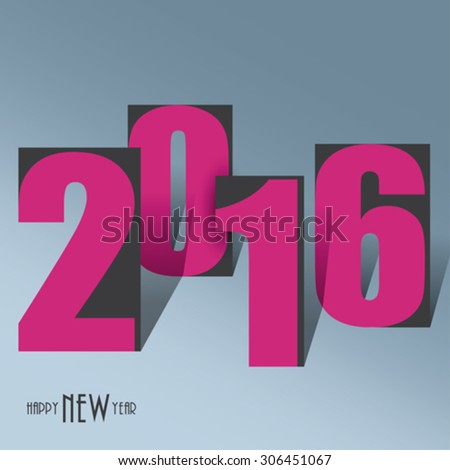 2016 creative background for your greetings card, flyers, invitation, posters, brochure, banners Happy New Year - stock vector