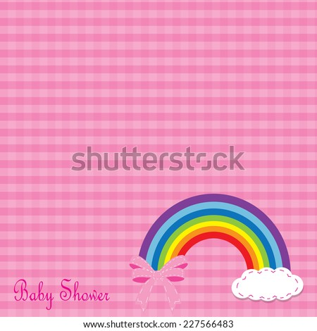 cute baby shower card with cute. vector illustration - stock vector