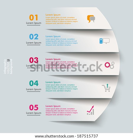 5 cutting banners on the grey background. Eps 10 vector file. - stock vector