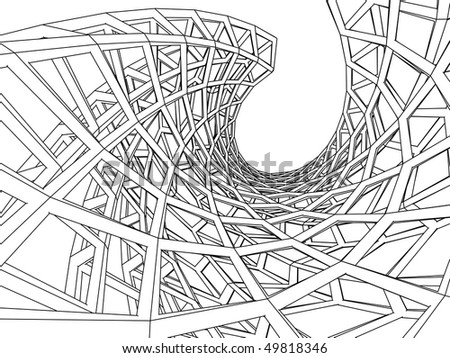 3d abstract architecture - stock vector
