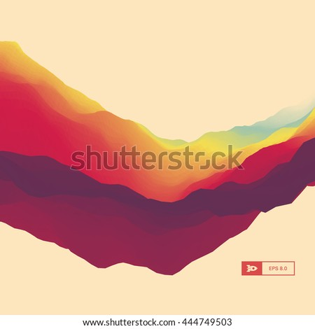 3D Abstract Background. Dynamic Effect. Futuristic Technology Style. Motion Vector Illustration.  - stock vector