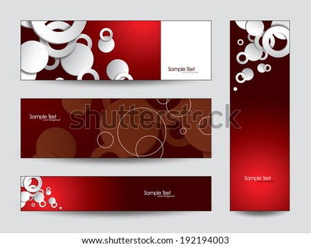 3D Abstract Banners. Vector Circles.  - stock vector