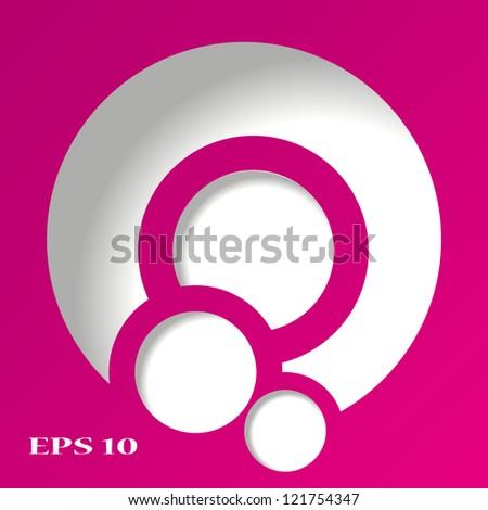 3d abstract pink circles - stock vector