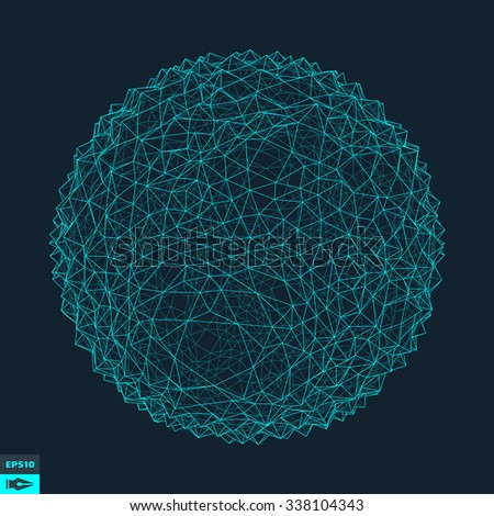 3d Abstract Sphere. Vector Illustration. - stock vector