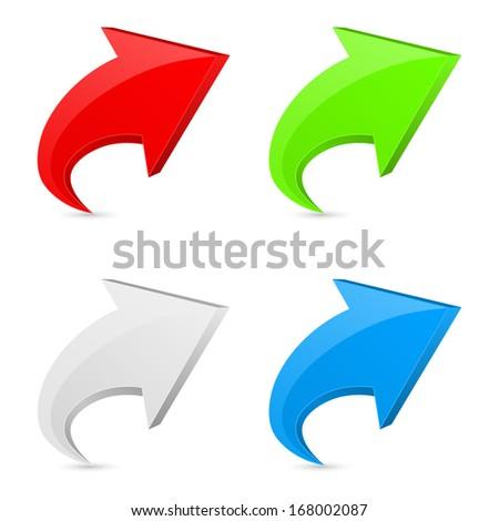 3d arrow icon concept - stock vector