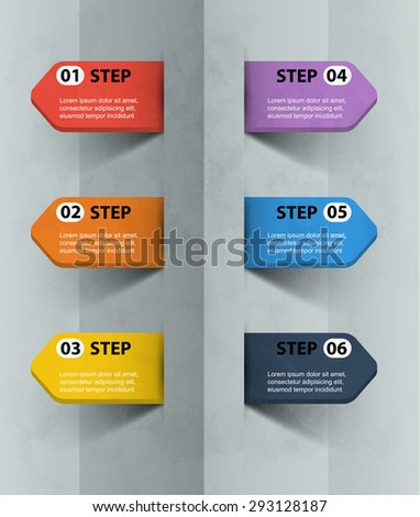3d arrow with the data time line infographics template - stock vector