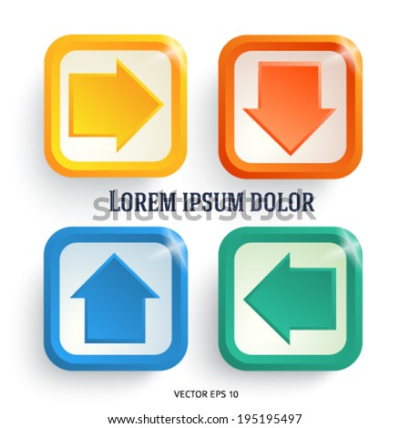 3d arrows on white background. Modern design elements business magazine template. Vector illustration EPS 10 for info-graphics, charts and graphs, web site page layout   - stock vector