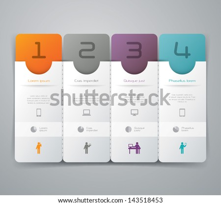 3D background Infographics. - stock vector