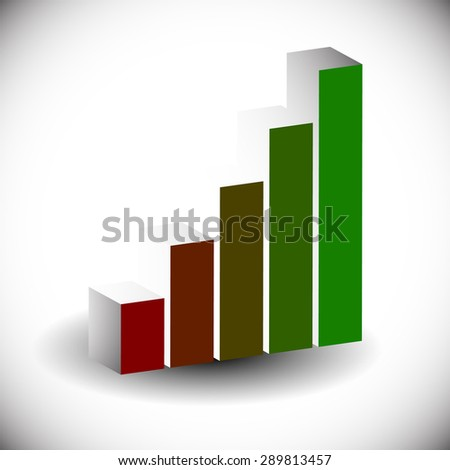 3d bar chart, bar graph element. Editable vector graphics. Illustration for business, finance, growth concepts. - stock vector