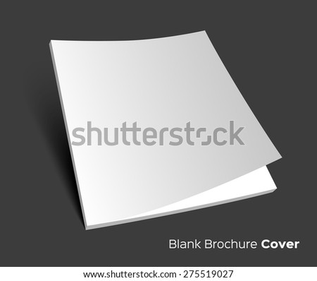 3D blank brochure cover. Realistic vector EPS10 illustration. Dark background. - stock vector