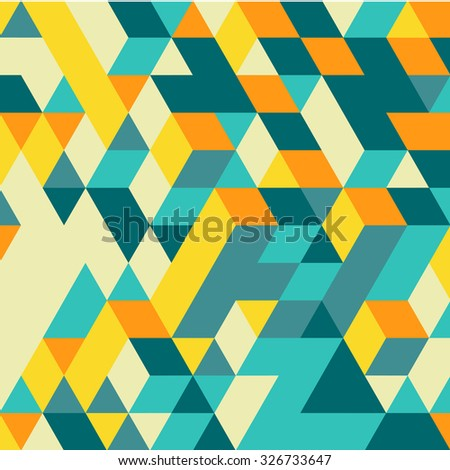 3d blocks structure background. Geometric pattern. Vector illustration.  - stock vector