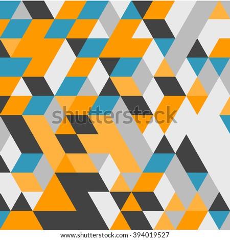 3d blocks structure background. Vector illustration. Background for business presentation. - stock vector