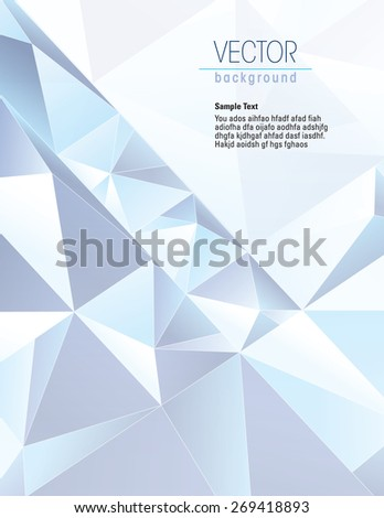 3d Blue Geometric Background. Vector Illustration. - stock vector
