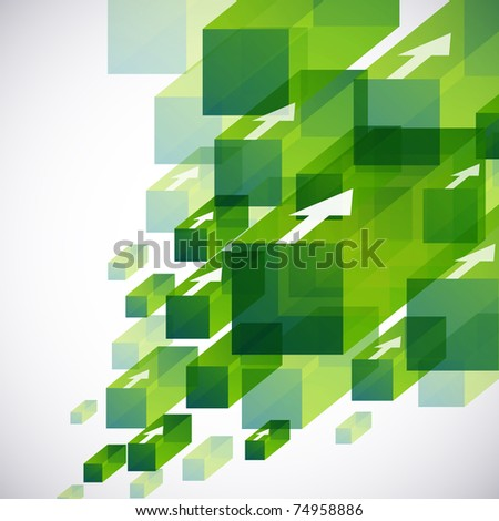 3d bright abstract background - stock vector