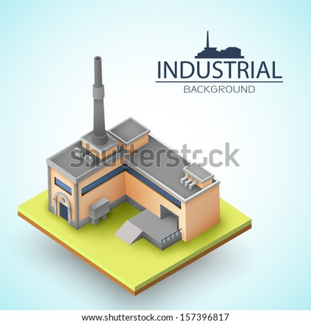 3d building concept. Vector Illustration, eps10, contains transparencies. - stock vector