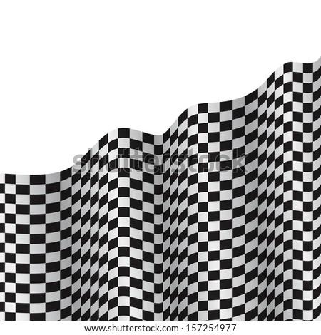 3d checkered flag texture.  - stock vector
